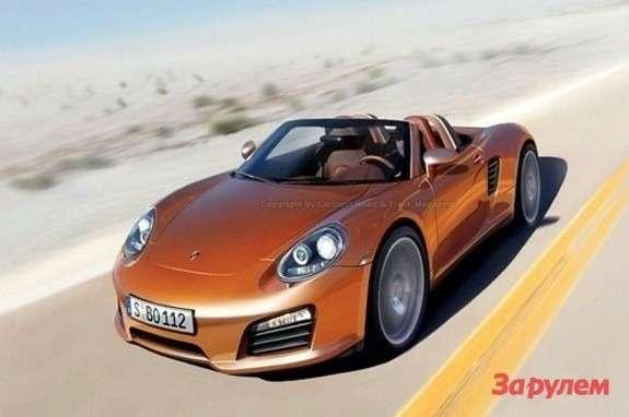 Porsche 550 Spyder rendering side-front view