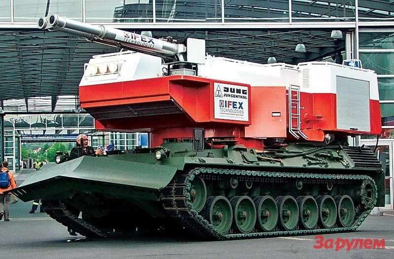 Мирный танк «Леопард» своей сдвоенной пушкой призван не убивать, аспасать людей отогня.