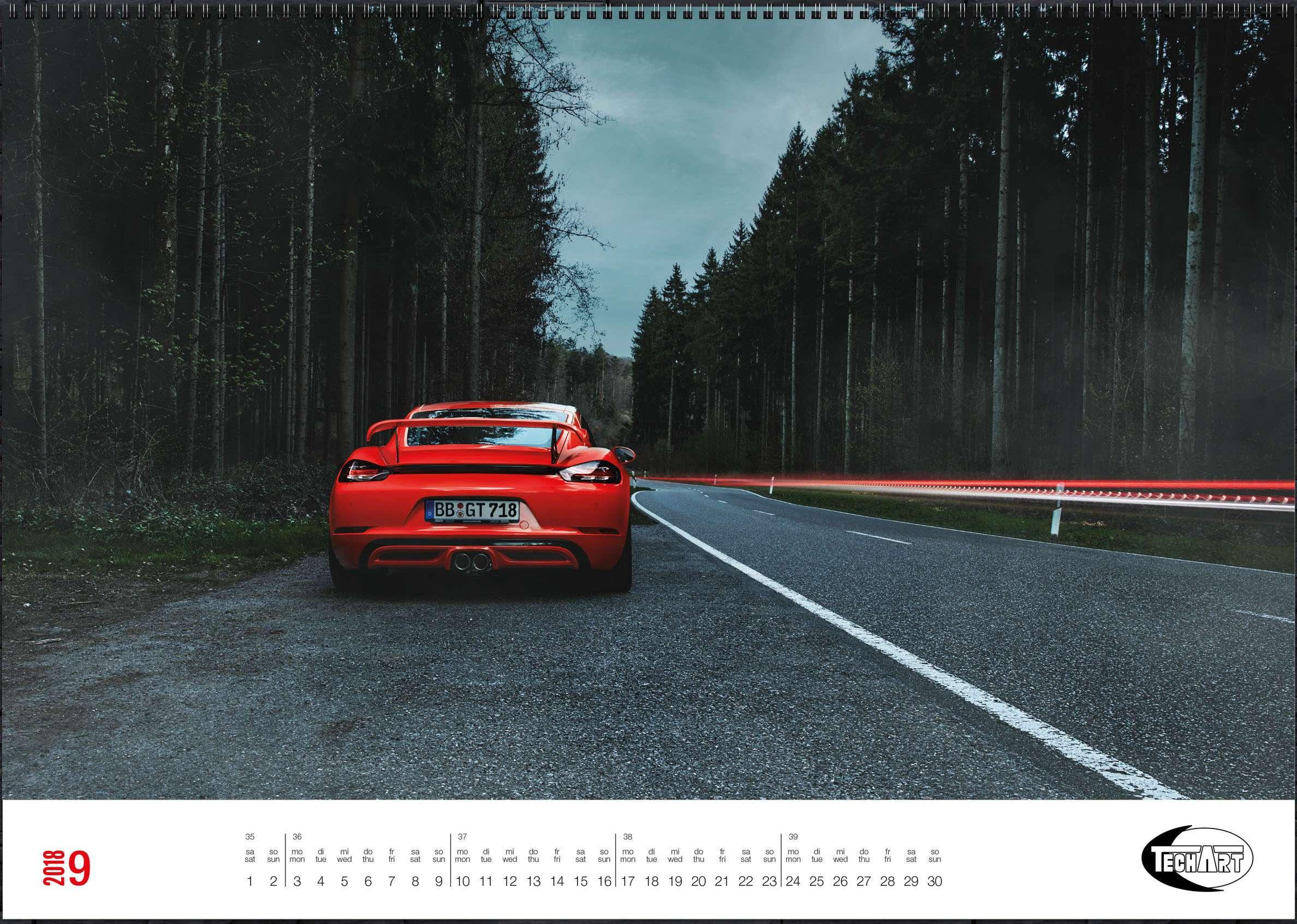 Только красивые машины: календарь Techart— фото 826395