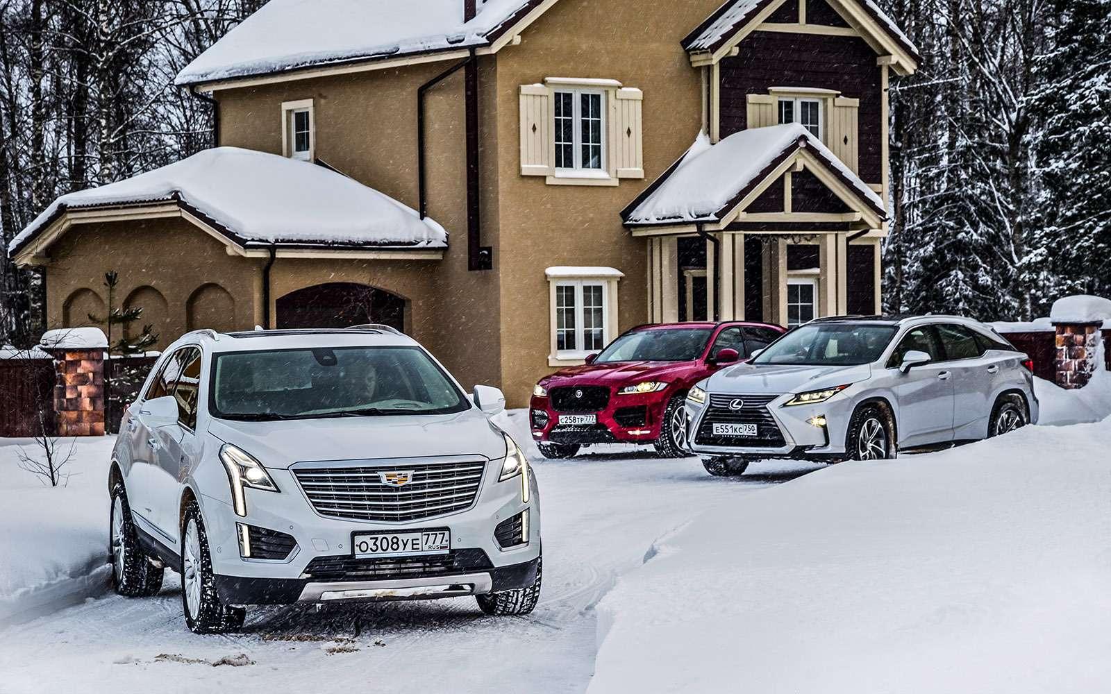 Тест премиум-кроссоверов: Lexus RX350, Cadillac XT5и Jaguar F-Pace— фото 721755
