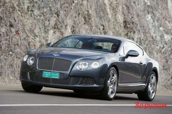 Bentley Continental GTside-front view