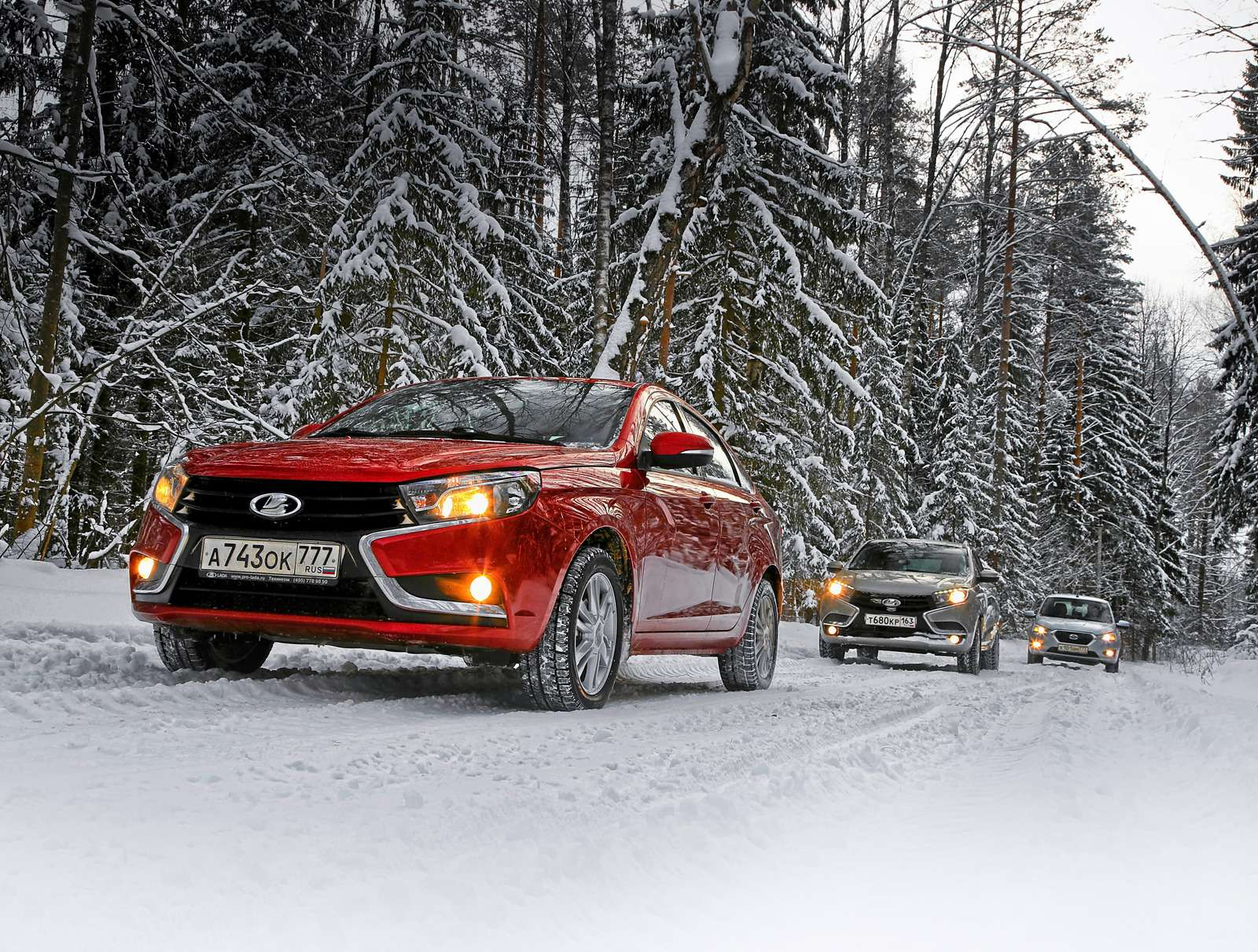 Большой зимний тест: Lada Vesta, Lada XRAY иDatsun mi-DO изпарка ЗР— фото 571416