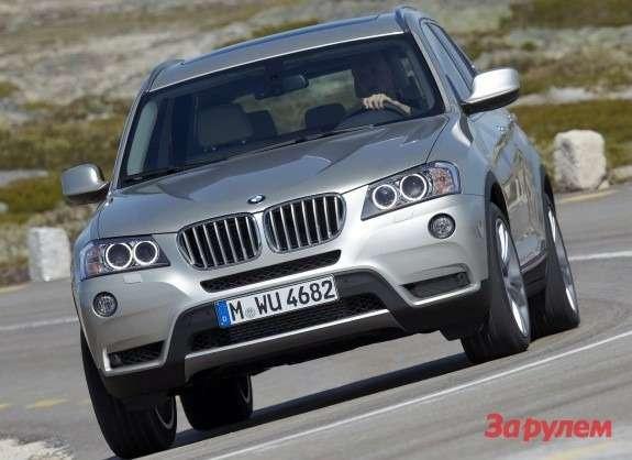 BMWX3front view