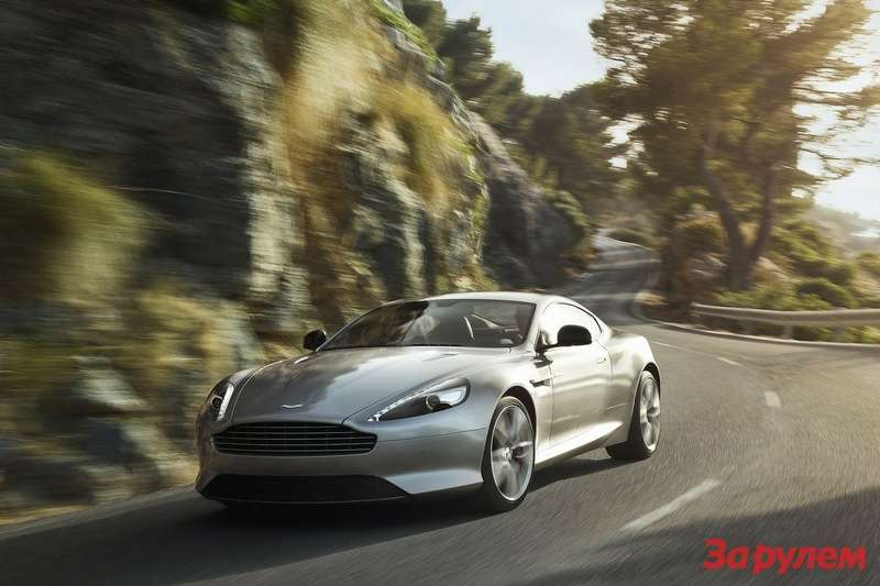 Restyled Aston Martin DB9 side-front view