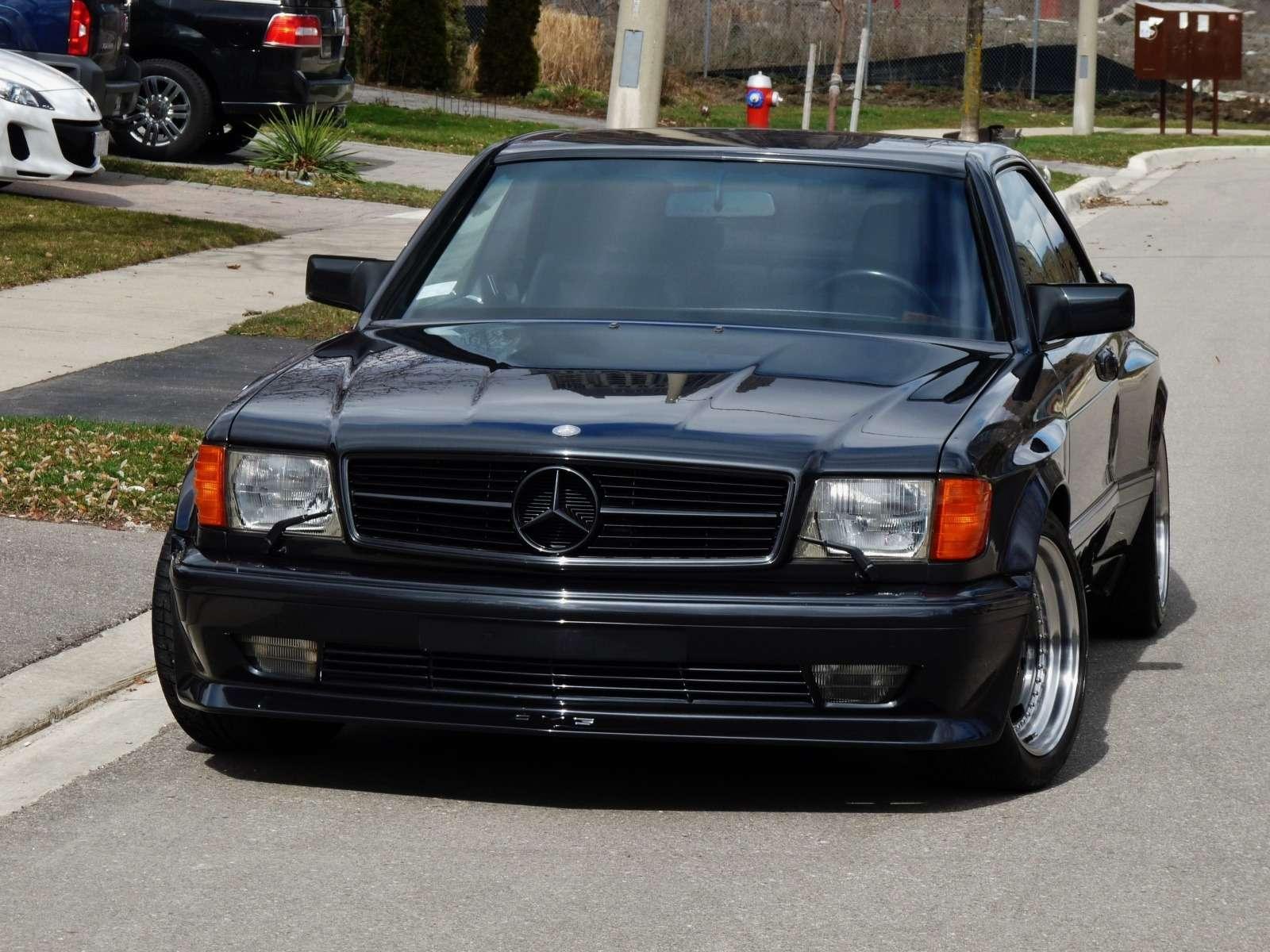 Полцарства законя: божественный Mercedes-Benz 560SEC 6.0AMG борозды неиспортит— фото 680597