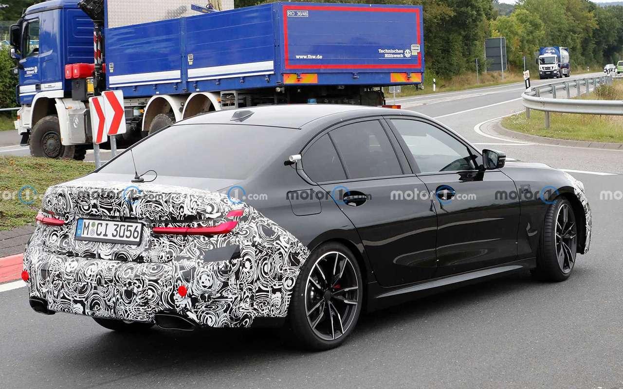 BMWтестирует обновленный седан 3-й серии— фото 1278208