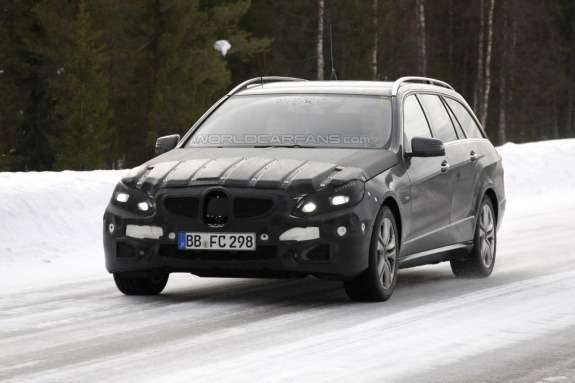 Facelifted Mercedes-Benz E-class T-Model side-front view