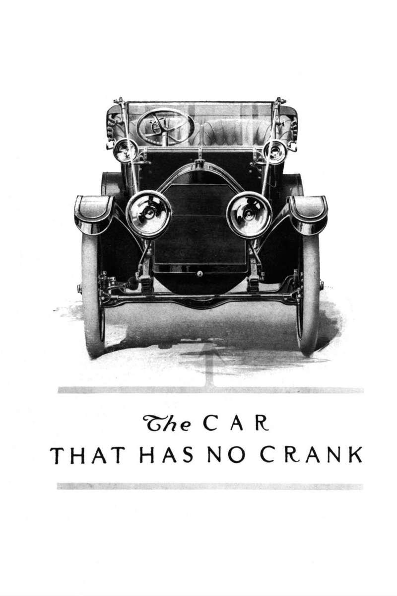 Фирма Cadillac намеренно изображала нарекламе свои машины вфас, чтобы все видели, что уних отсутствует заводная рукоятка. Храповый механизм переселился сноска коленчатого вала вкорпус стартера.