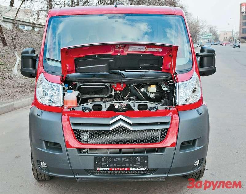 Максимум крутящего момента 120-сильного двигателя достигается при  2000 об/мин— владельцы 4-тонных модификаций не жалуются нанехватку тяги