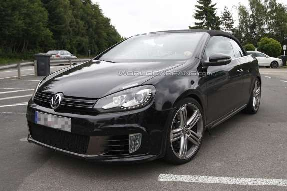 Volkswagen Golf R Cabriolet test prototype side-front view