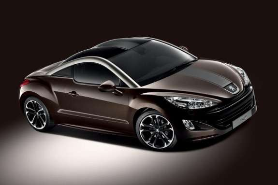 Peugeot RCZ Brownstone side-front view