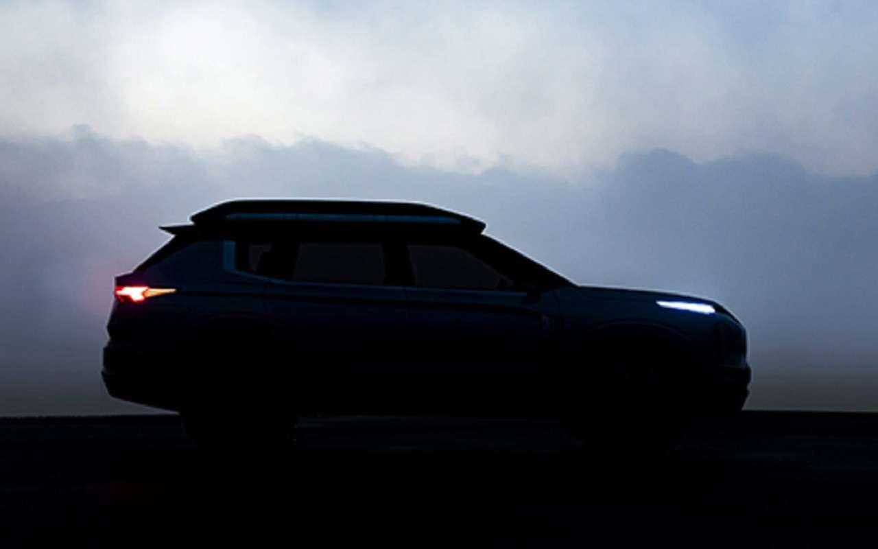 Ещеодин тизер нового кроссовера Mitsubishi— теперь впрофиль— фото 952574