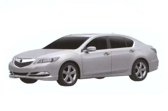 Acura RLX patent image side-front view