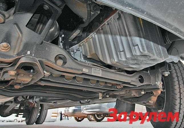 Алюминиевый поддон картера делает двигатель менее шумным