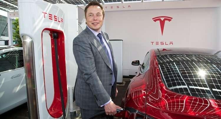 CEOElon Musk atfirst UKSupercharger