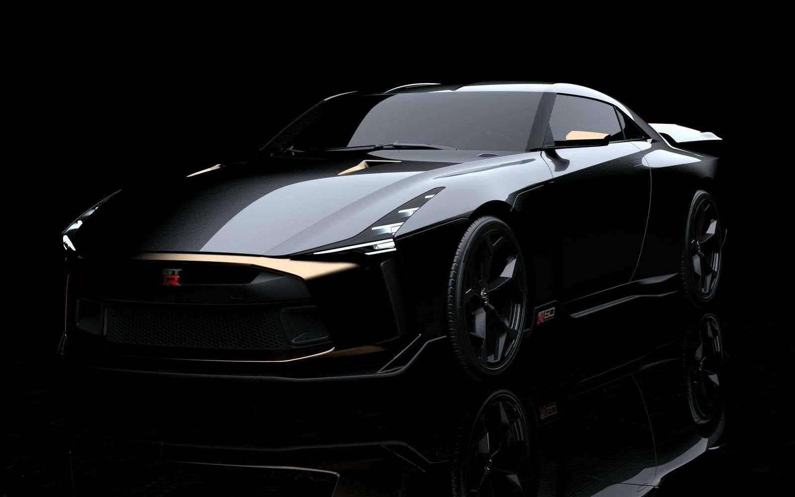 Золотой стандарт: Nissan иItaldesign представили юбилейный GT-R— фото 882713