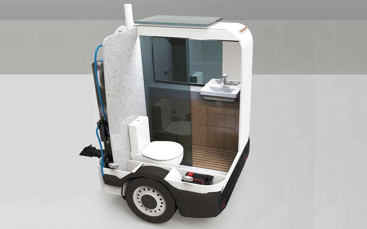 Персональный автотуалет— очень нужная вещь впробке