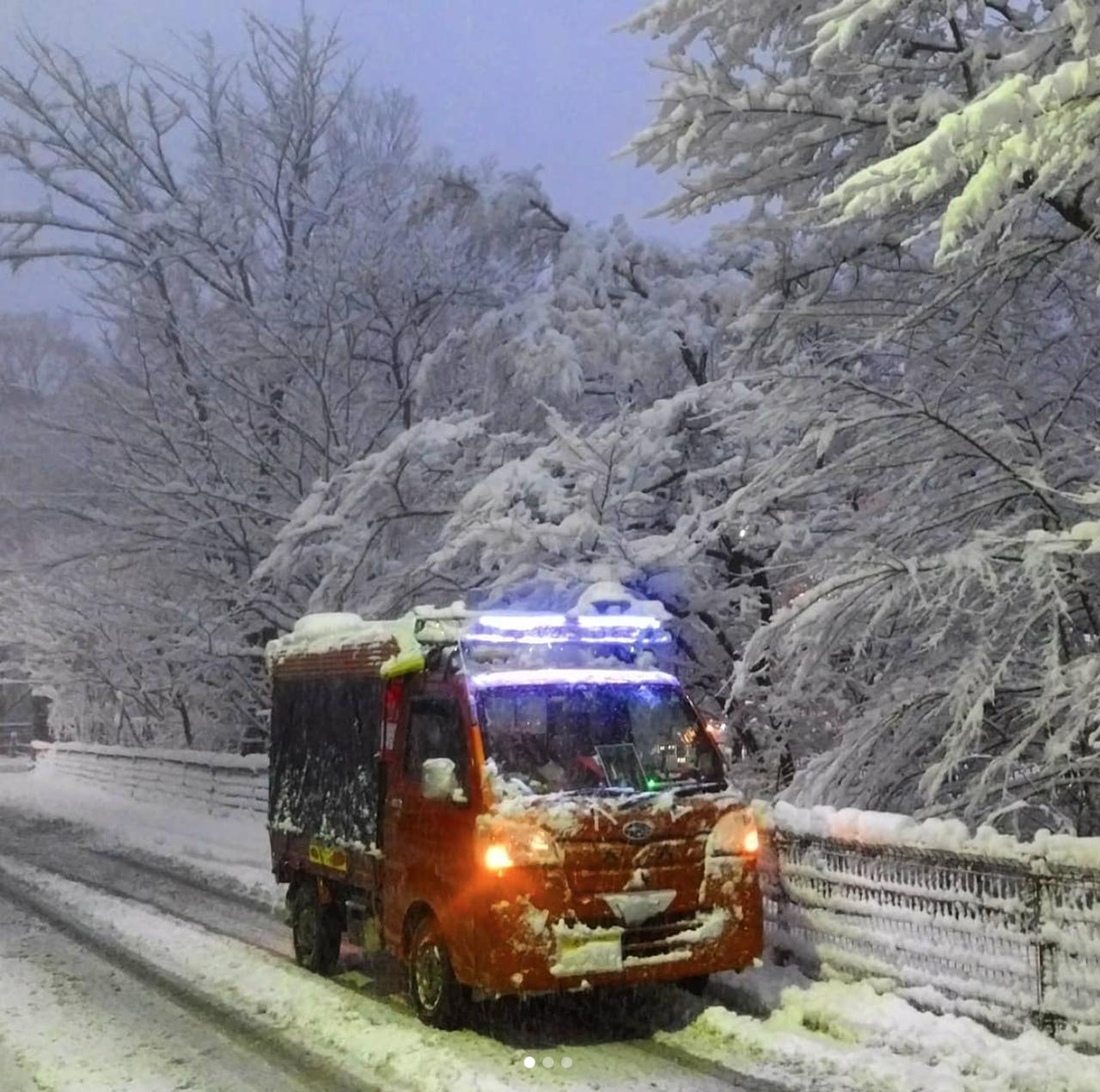 Снегопад вЯпонии: надорогах гибнут автолюбители— фото 845073