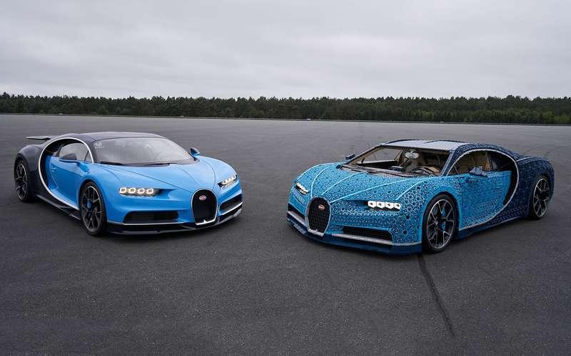 Bugatti Chiron изLego— успейте посмотреть вПарке Горького