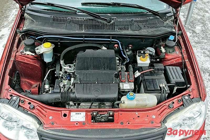 Мотор (1,4л, 77л.с.) исправно справляется собязанностями: подкапот мызаглядывали лишь длядолива исмены жидкостей. Зато дважды меняли синхронизаторы вкоробке иодин раз— сцепление.