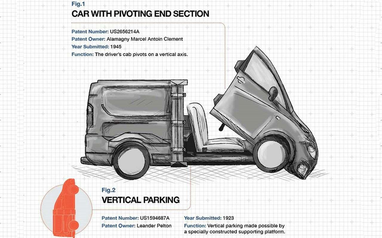 Липкая машина, мойщики-дроны, растущий хвост— странные патенты Toyota, BMW, Google— фото 1102226