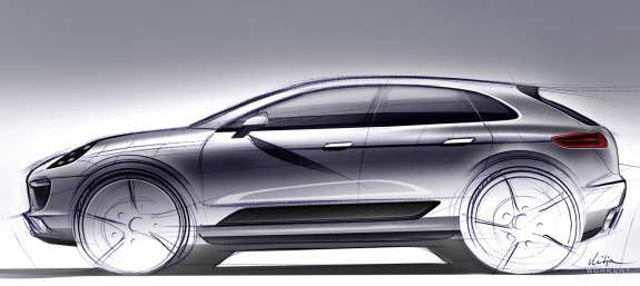 Porsche Macan official sketch side view