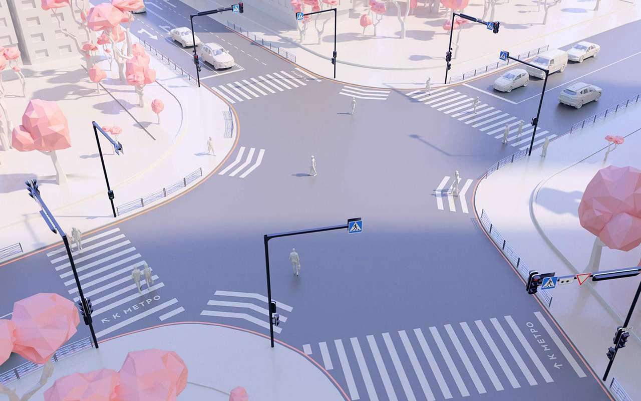 Эксперимент Студии Артемия Лебедева: оформление городских перекрестков— фото 992231