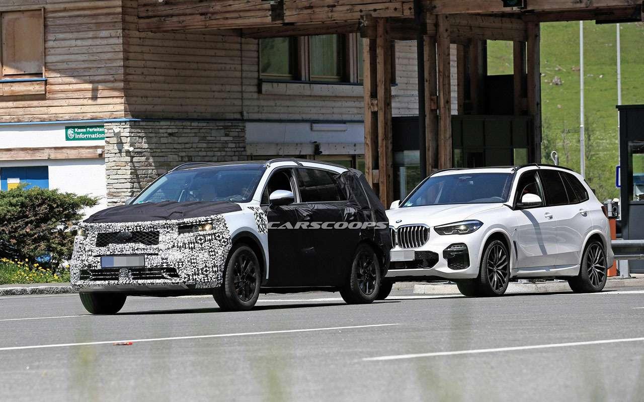 KiaSorento нового поколения копируют сBMW X5— фото 978858