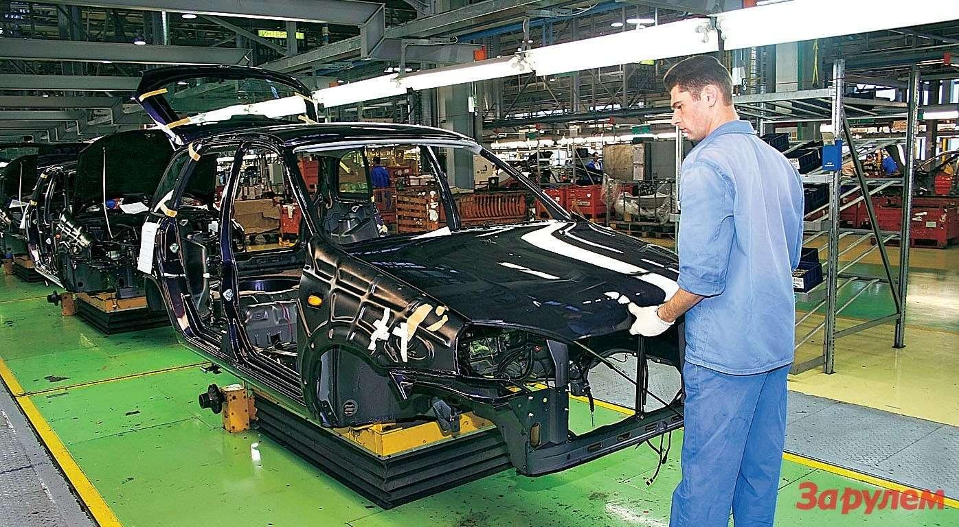 Конвейер «Калины» позволяет выпускать до220 тыс. машин вгод, нопока загружен далеко не полностью.