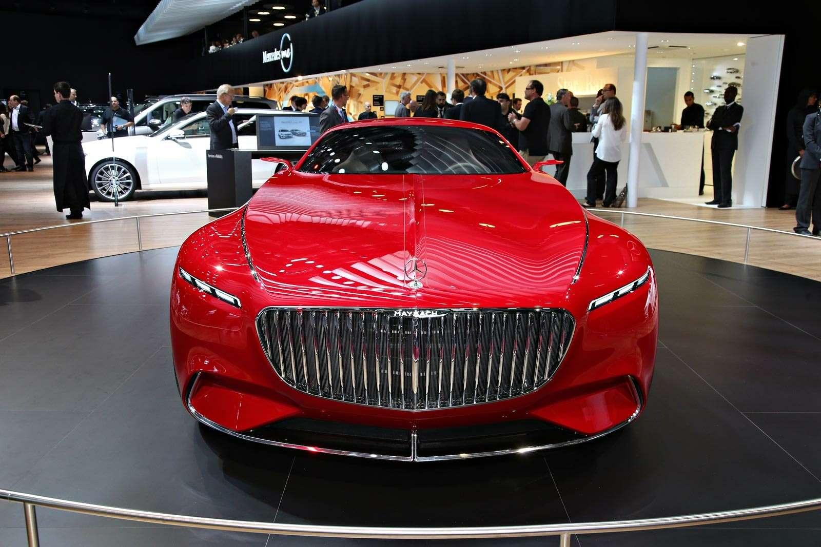 Самый красивый автомобиль Парижа: Vision Mercedes-Maybach 6завоевывает сердца— фото 643573