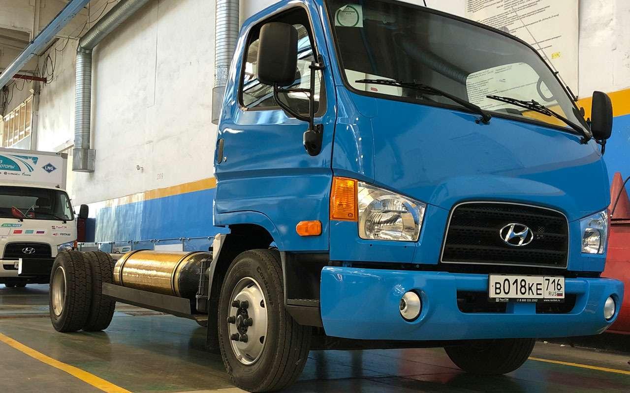 Hyundai переводит свои грузовики нагаз— фото 1235083