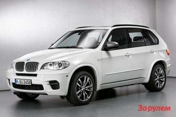 BMWX5M50d side-front view