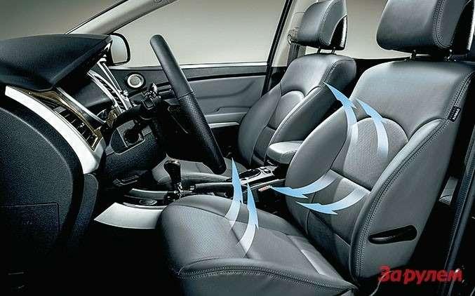 У передних сидений теперь есть функция вентиляции.