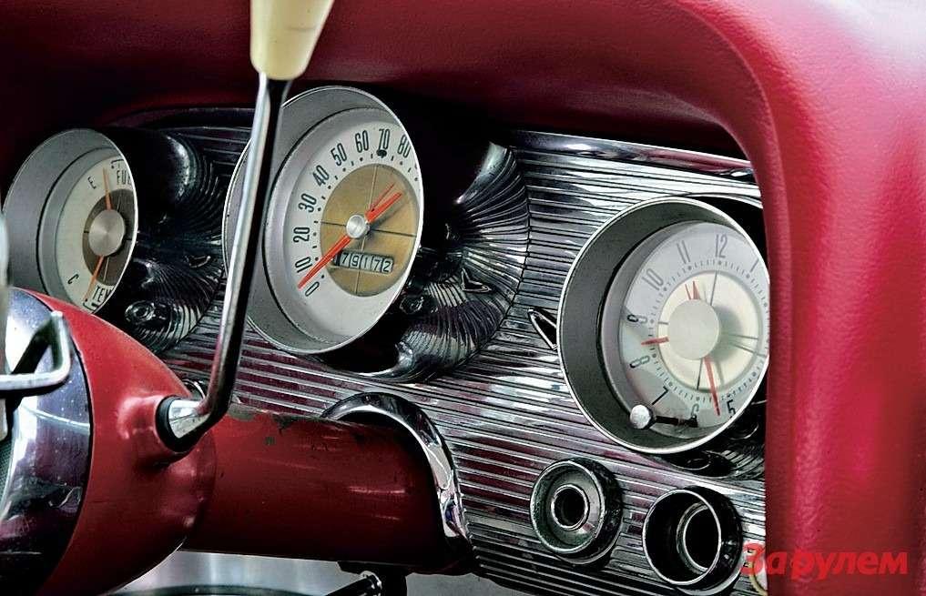 Блеск хрома, спидометр— вмилях, «клюка»— подрулем. Налицо все признаки классического американского автомобиля.