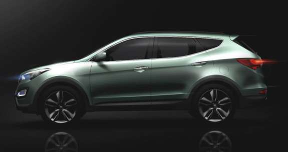 Sketch of the new Hyundai Santa Fe side view