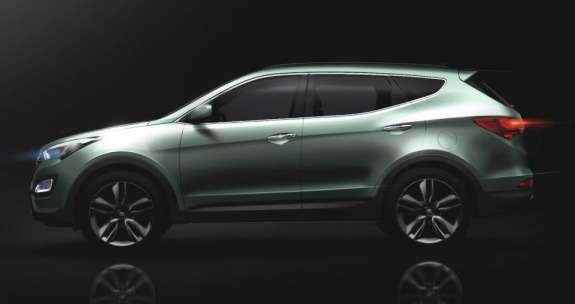 Sketch ofthe new Hyundai Santa Feside view