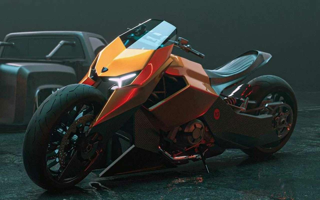 Мотоцикл Lamborghini: вот так онможет выглядеть— фото 1200503