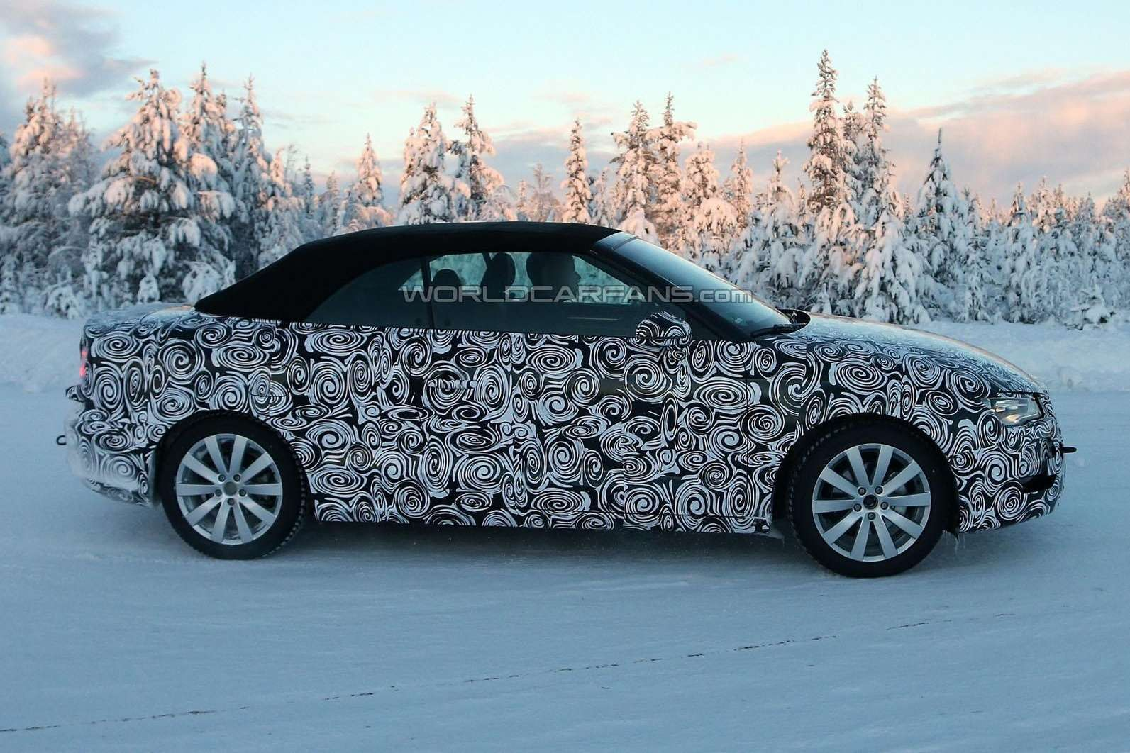 Audi A3Cabriolet test prototype side view_no_copyright