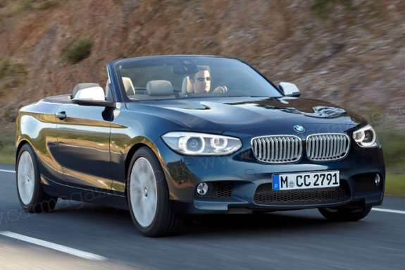BMW 2-Series Convertible rendering by Car Magazine side-front view