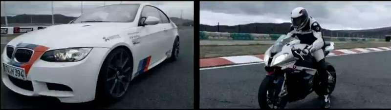 BMWM3и BMW S1000RR Superbike выяснили отношения
