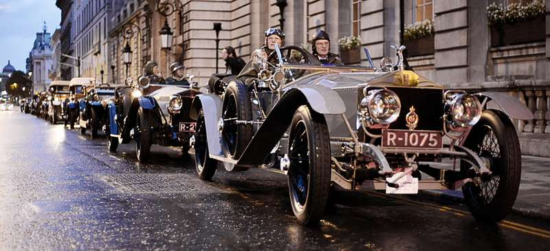 Раритет Rolls-Royce 40/50HP номер R-1075на памятном пробеге изЛондона вЭдинбург, сентябрь 2011 года