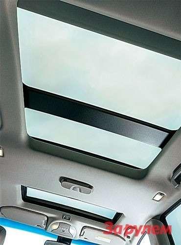 Прозрачная крыша надзадней частью салона полагается двум самым богатым версиям.