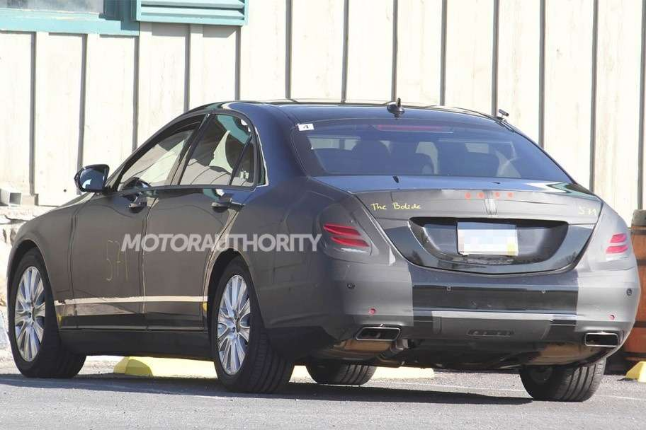 NewMercedes-Benz S-class test prototype side-rear view