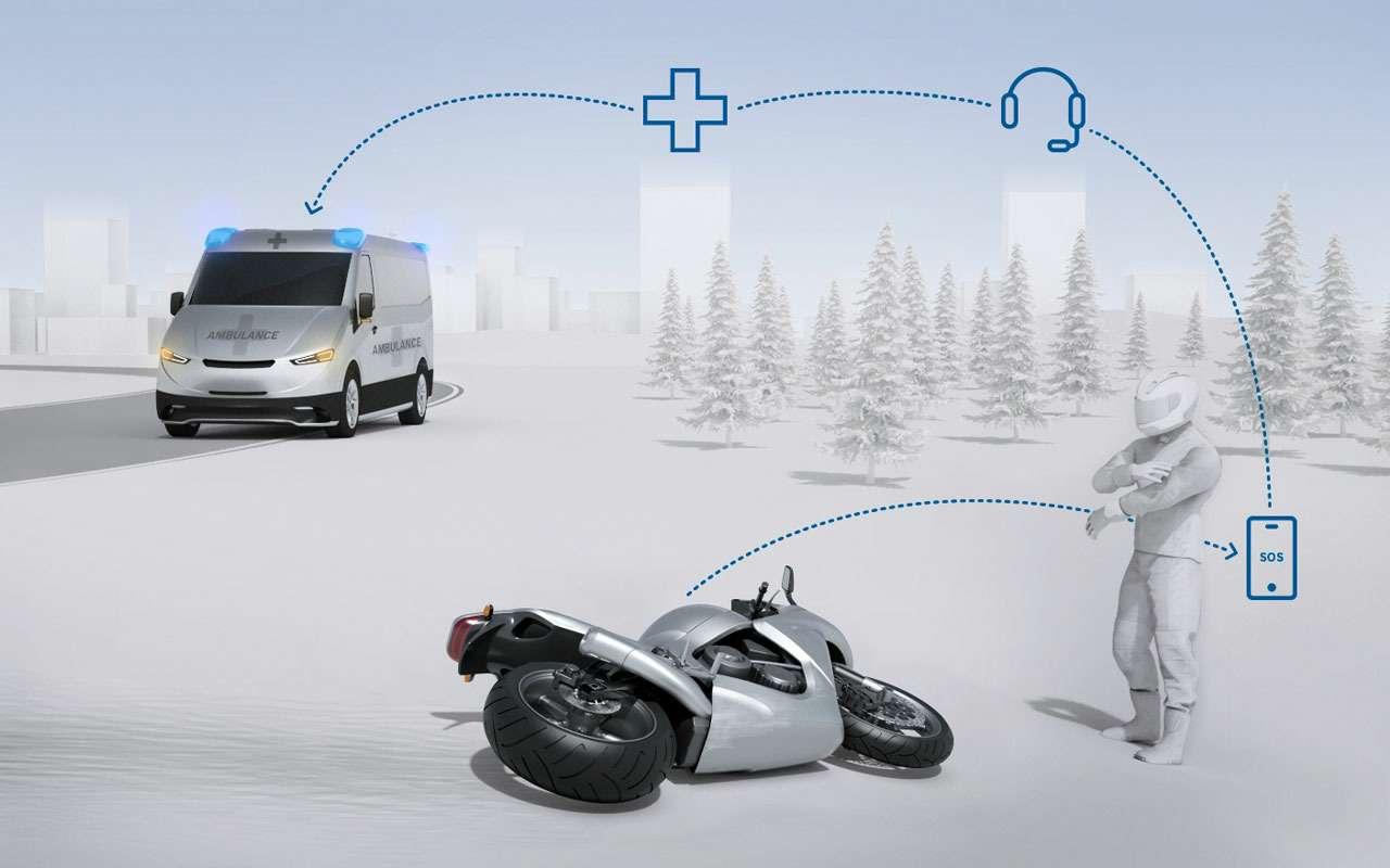 Bosch сделал новую защиту длямотоциклистов— фото 1138263