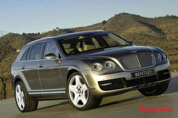 Bentley SUV rendering side-front view