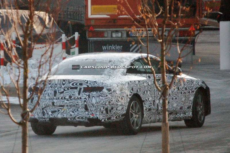Mercedes-Benz S-class Coupe test prototype side-rear view_no_copyright