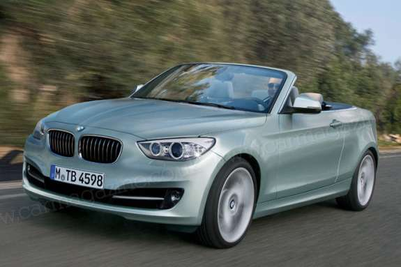 BMW 2-Series Convertible rendering 2 by Car Magazine side-front view