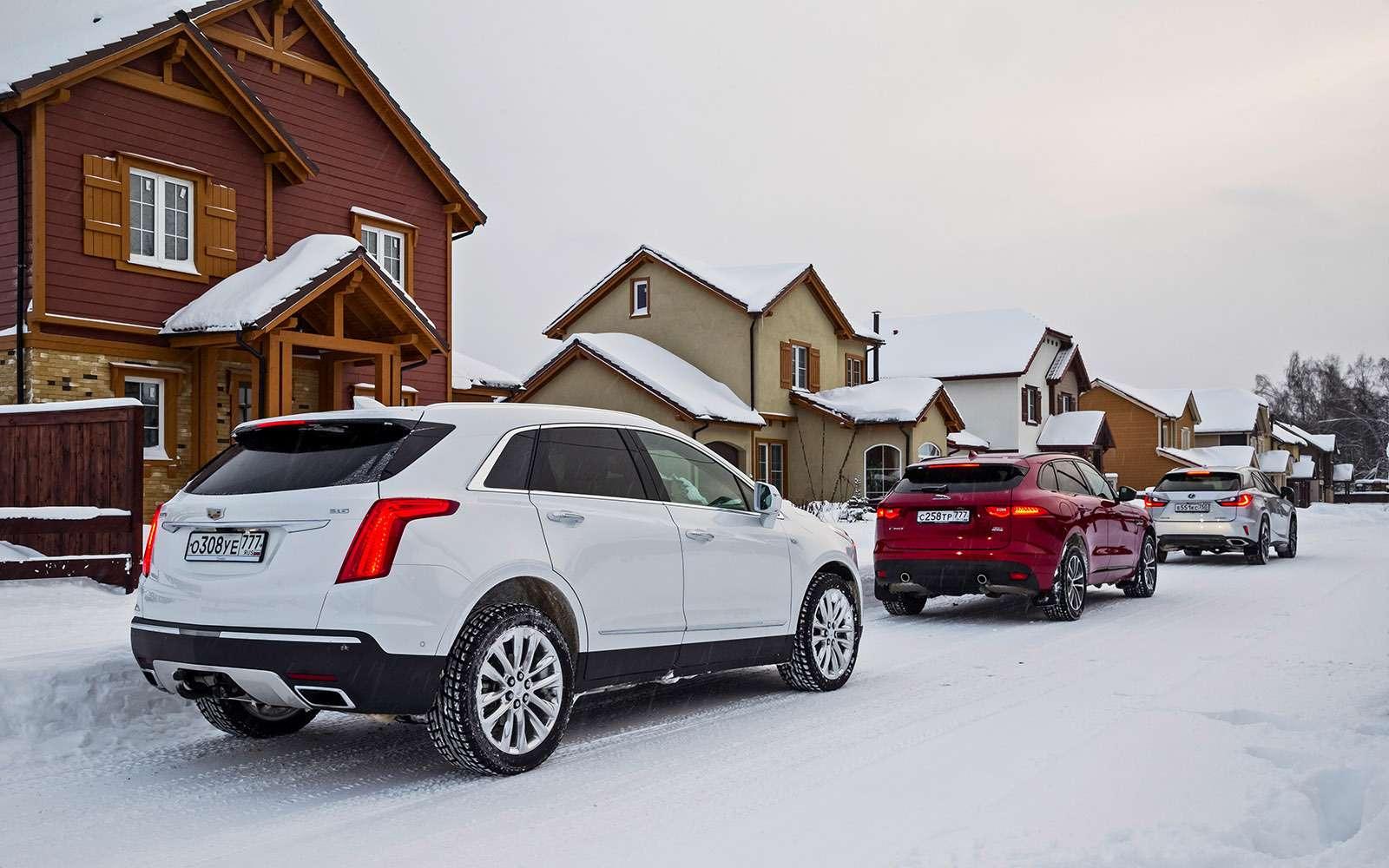 Тест премиум-кроссоверов: Lexus RX350, Cadillac XT5и Jaguar F-Pace— фото 721754