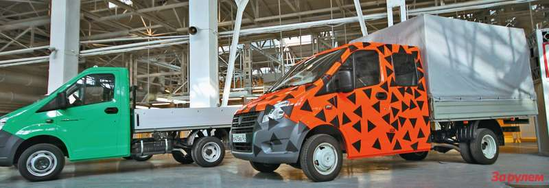 Производство «ГАЗели-NEXT» начинается сшасси, бортовой платформы  игрузовика судлиненной кабиной