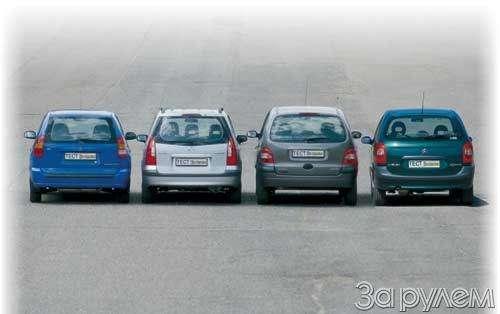 Тест Citroen Xsara Picasso, Mitsubishi Space Star, Mazda Premacy, Renault Scenic. Семейный квартет.— фото 20437